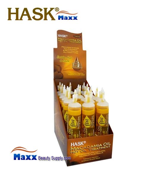 Hask Macadamia Oil Hot Oil Treatment 1oz - 1 Display(18 Tube)