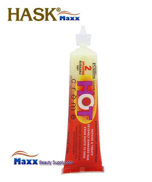 Hask Placenta Hot Creme Leave In Hair Treatment 1oz - Tube