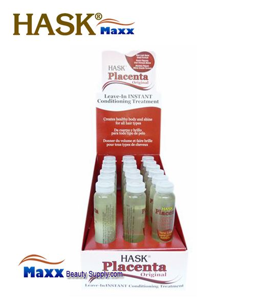 Hask Placenta Original Leave-In Instant Conditioning Treatment 5/8oz - 1 Display(18 Bottle)