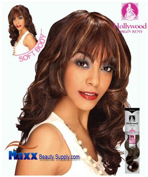Hollywood Virgin Remy Human Hair Weaving - Soft Wave 14""