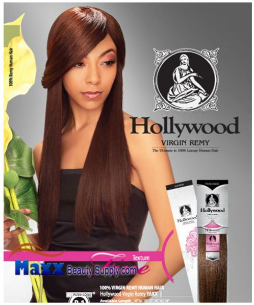 "Hollywood Virgin Remy Human Hair Weaving - Remy Yaky 10"", 12"", 14"""