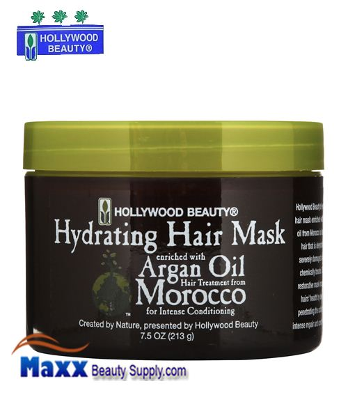 Hollywood Beauty Argan Oil Hydrating Hair Mask Enriched 7.5oz