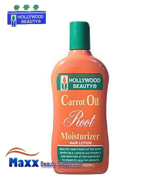 Hollywood Beauty Carrot Oil Root Moisturizer Hair Lotion 12oz