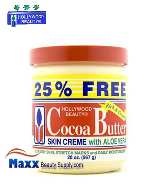Hollywood Beauty Cocoa Butter Skin Creme With Aloe Vera 20oz
