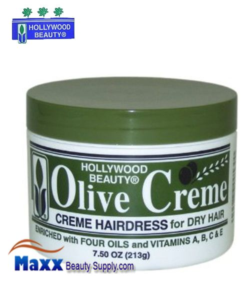 Hollywood Beauty Olive Cream Hairdress for Dry Hair 7.5oz
