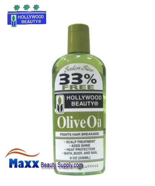 Hollywood Beauty Olive Oil Fight hair Breakage 8oz