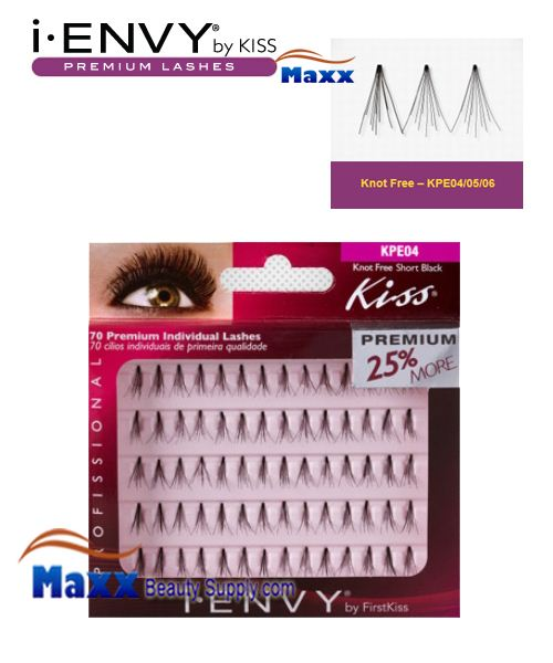 Kiss i Envy Individual Eyelashes - KPE04 - Knot Free Short Black