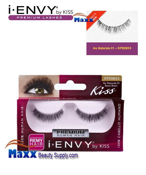Kiss i Envy Au Naturale 01 Eyelashes - KPE08XS - Extra Short