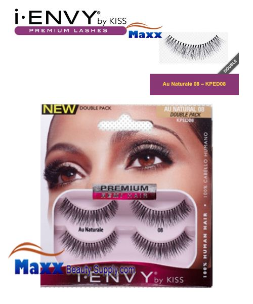 Kiss i Envy Double Pack Au Naturale 08 Eyelashes - KPED08