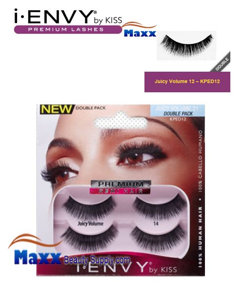 Kiss i Envy Double Pack Juicy Volume 02 Eyelashes - KPED12