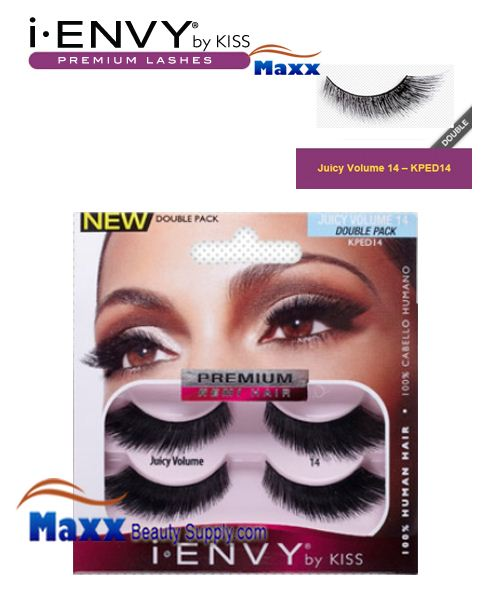 Kiss i Envy Double Pack Juicy Volume 14 Eyelashes - KPED14