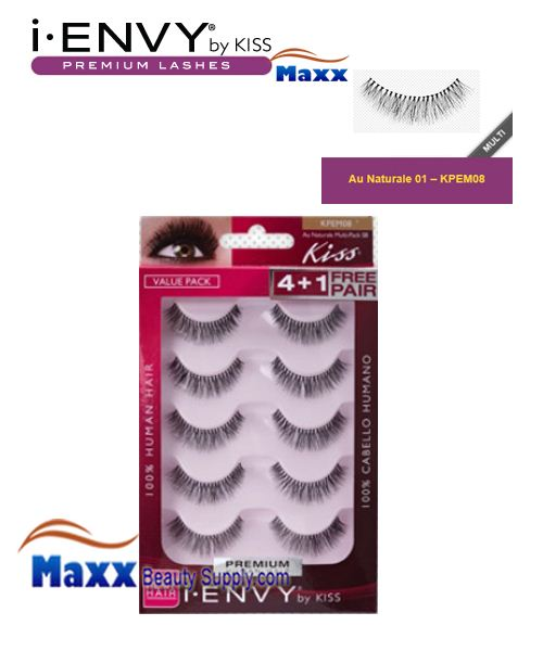 Kiss i Envy Multi Pack Au Naturale 01 Eyelashes - KPEM08