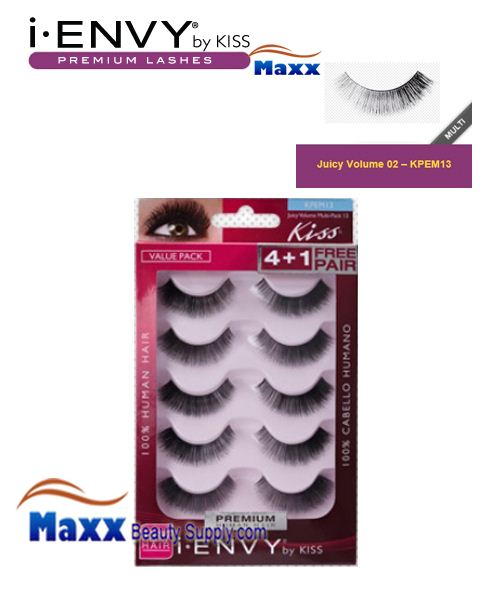 Kiss i Envy Multi Pack Juicy Volume 02 Eyelashes - KPEM13