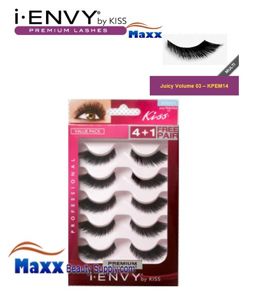 Kiss i Envy Multi Pack Juicy Volume 03 Eyelashes - KPEM14