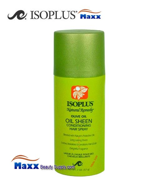 Isoplus Natural Remedy Oil Sheen Conditioning Hair Spray 2oz
