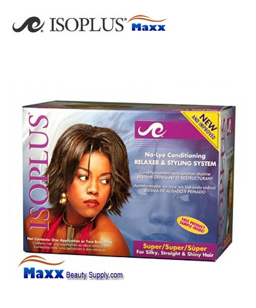 Isoplus No-Lye Conditioning Relaxer & Styling System Kit 1 App - Super