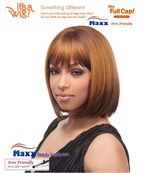 It's a Wig Synthetic Hair Full Cap Iron Friendly - FC Perm Yaki BOB