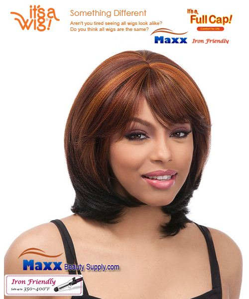 It's a Wig Synthetic Hair Full Cap Iron Friendly - FC Perm Yaki OSCAR
