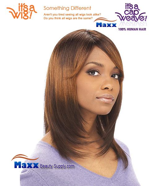 It's a Wig Cap Weave 100% Human Hair Wig - HH Yaki 1012