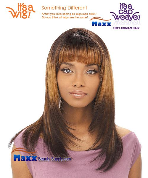 It's a Wig Cap Weave 100% Human Hair Wig - HH Yaki 1214