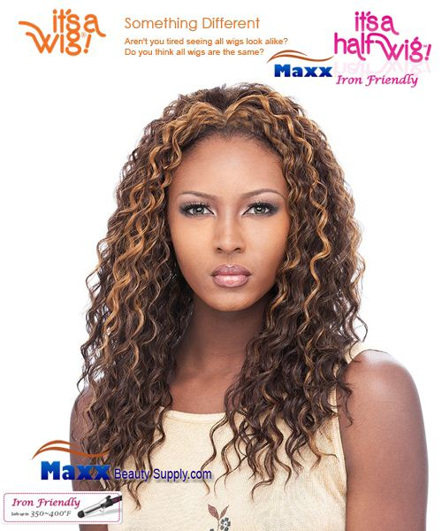 It's a Wig Synthetic Hair Half Wig Iron Friendly - HW Brenda