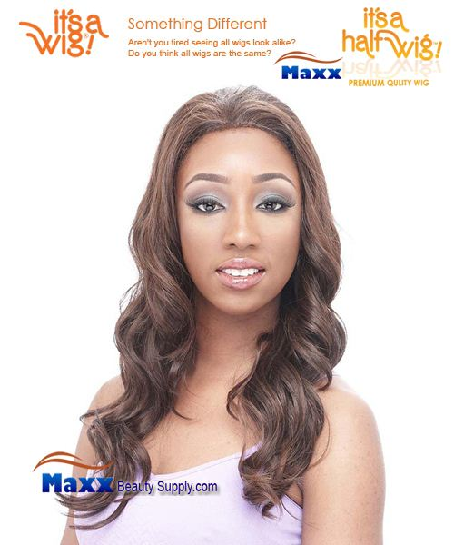 It's a Wig Synthetic Hair Half Wig Premium Quality Wig - HW Layla