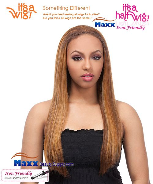 It's a Wig Synthetic Hair Half Wig Iron Friendly - HW Perm Yaki 22