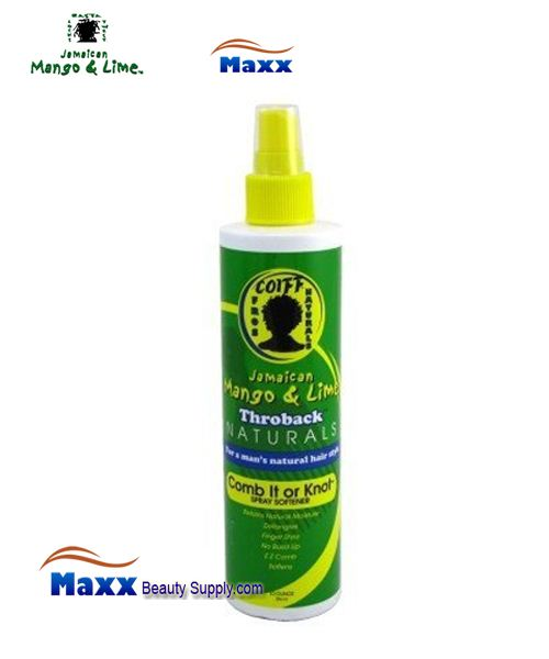 Jamaican Mango & Lime Throback Naturals Comb Knot Spray Softener 10oz