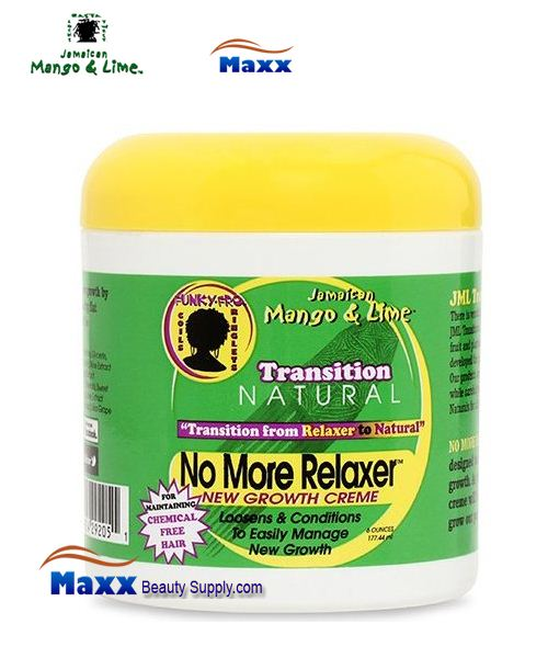 Jamaican Mango & Lime Transition Natural No More Relaxer Growth Creme 6oz
