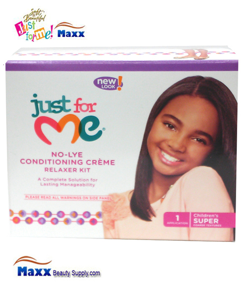 Soft & Beautiful Just for Me Kids No-Lye Conditioning Creme Relaxer Kit - Super