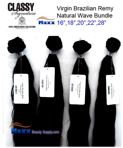 JK Trading Classy Brazilian Remy Hair - Natural Wave Bundle 28""