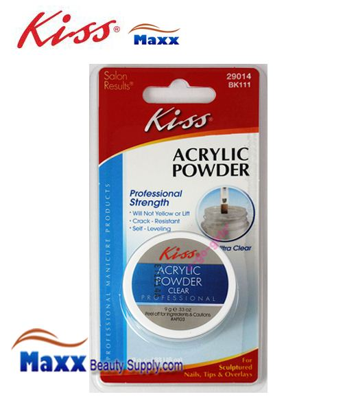 Kiss Acrylic Powder Professional Strength Clear 0.33oz - BK111 : 29014