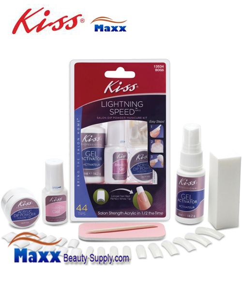 Kiss Lightning Speed Salon Dip Powder Manicure Kit - BOG5 : 13534