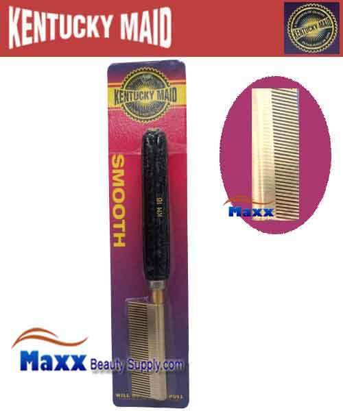 Kentucky Maid #SPKM 16 Smooth Pressing Comb - Medium brass teeth and steel spacers