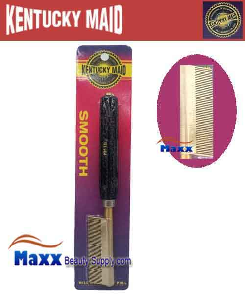 Kentucky Maid #SPKM 18 Smooth Pressing Comb - Fine brass teeth and steel spacers