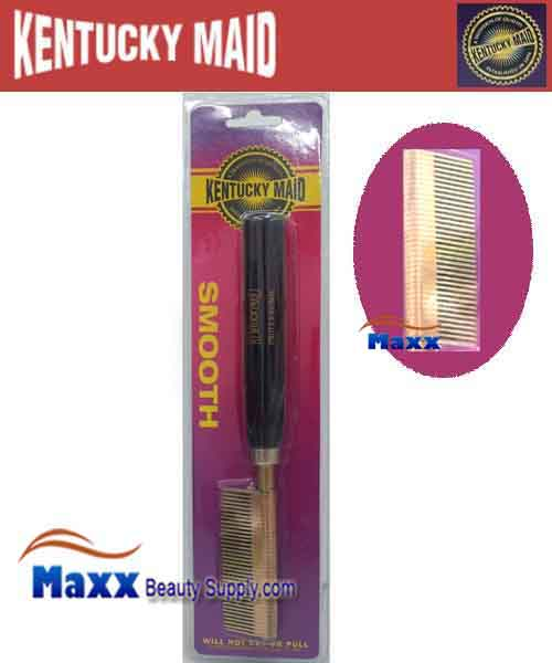 Kentucky Maid #SPKM 27 Smooth Pressing Comb - Medium brass teeth and copper spacers