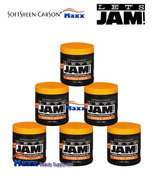 Let's Jam Shining And Conditioning Gel Extra Hold 14oz - 1box(6pc)