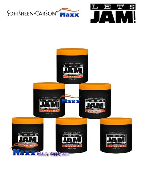 Let's Jam Shining And Conditioning Gel Extra Hold 4.4oz - 1Box(6pc)