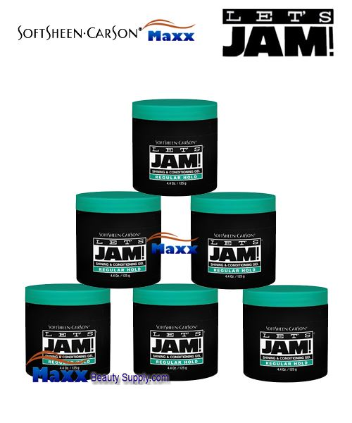 Let's Jam Shining And Conditioning Gel Regular Hold 4.4oz - 1Box(6pc)