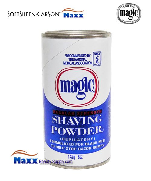 Softsheen & Carson Magic Shaving Powder Regular Strength 5oz - Blue