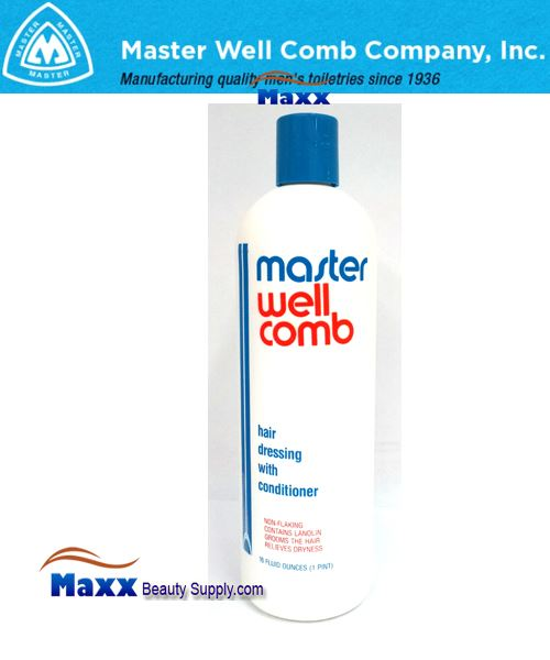 Master Well Comb Hair Dress with Conditioner 16oz