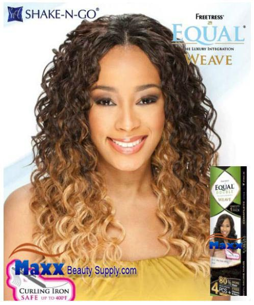 Equal maxxbeautysupply hair wig hair extension eyelashes freetress equal double weave synthetic hair appeal curl 4pc pmusecretfo Gallery