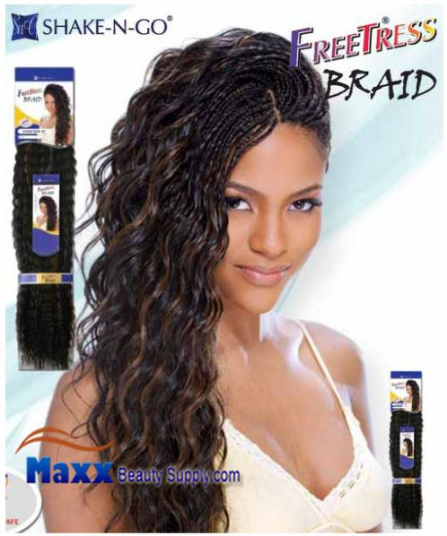 ... Braiding : Freetress Premium Synthetic Hair Braid - Loose Deep Bulk 24