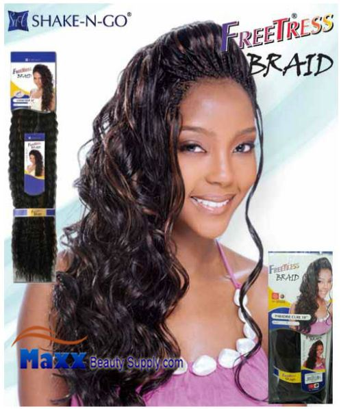 Freetress Premium Synthetic Hair Braid - Paradise Curl Bulk 18""
