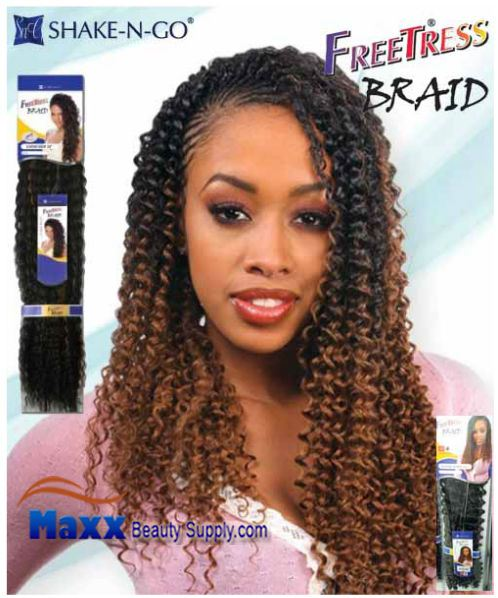 Freetress Premium Synthetic Hair Braid - Water Wave Bulk 22""
