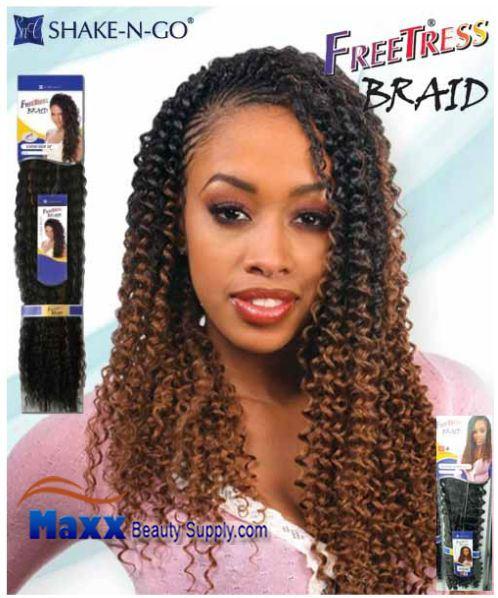 Freetress Premium Synthetic Hair Braid Water Wave Bulk 22