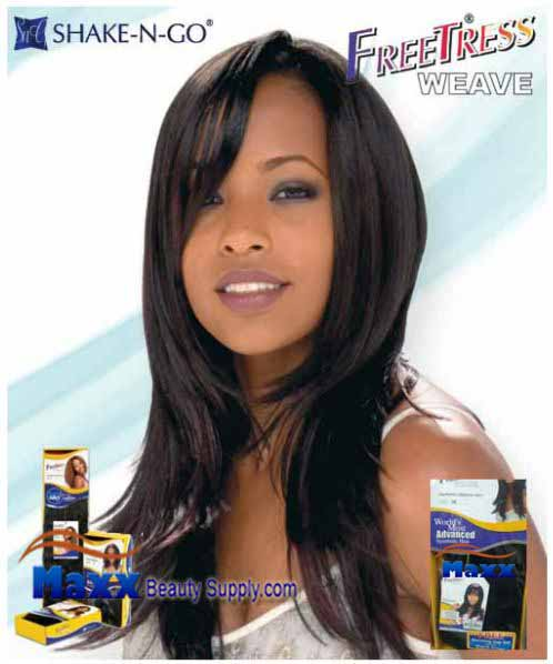 Freetress Premium Synthetic Hair Weave - Valentine Straight 4pcs