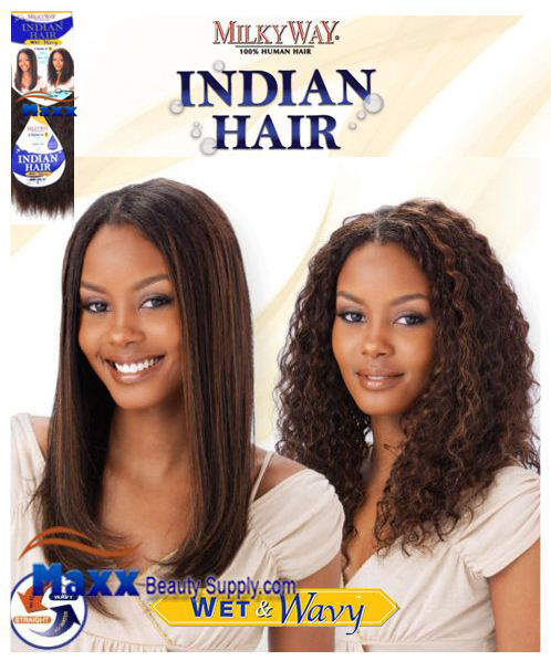 "MilkyWay Indian Hair Wet & Wavy - Indian Jerry Curl 12"", 14"""