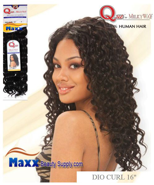 Que by MilkyWay Human Hair MasterMix - Dio Curl 16""