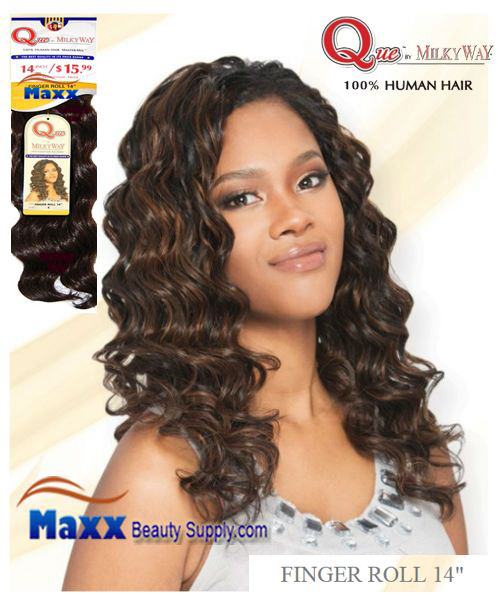 Que by MilkyWay Human Hair MasterMix - Finger Roll 14""